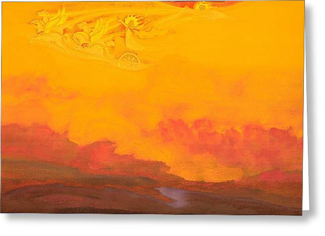 Recently Sold -  - Nicholas Greeting Cards - Elijah the Prophet Greeting Card by Nicholas Roerich