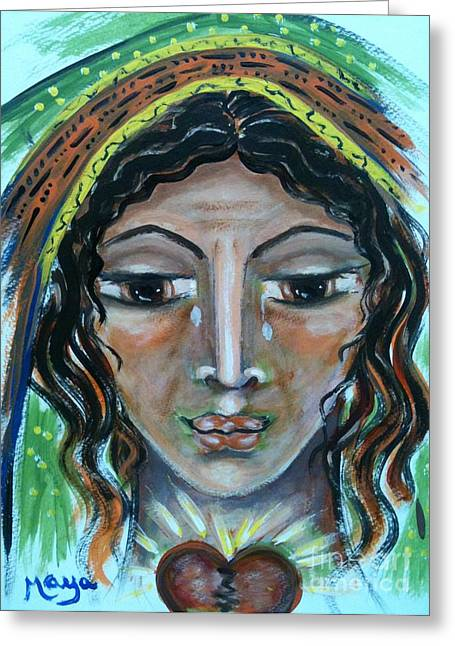The Sacred Feminine Greeting Cards - Elisabeth Greeting Card by Maya Telford