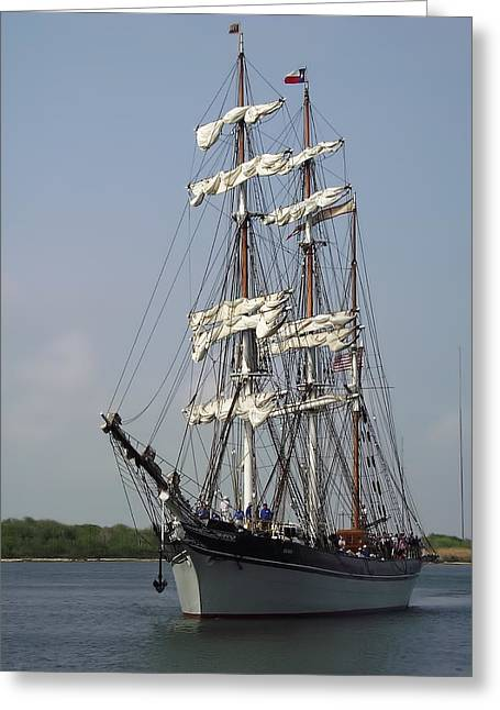 Elissa Tall Ship Greeting Card by Linda Phelps