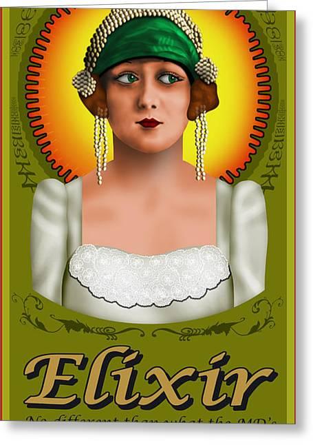 H Drew Greeting Cards - Elixir Greeting Card by Troy Brown