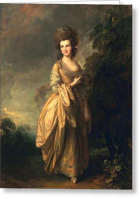 Full-length Portrait Paintings Greeting Cards - Elizabeth Beaufoy, Later Elizabeth Greeting Card by Thomas Gainsborough