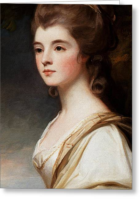 Duchess Greeting Cards - Elizabeth Duchess of Sutherland Greeting Card by George Romney