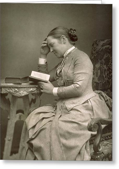 Woman Head Prints Greeting Cards - Elizabeth Garrett Anderson Greeting Card by Stanislaus Walery