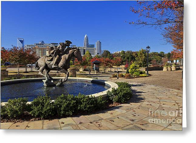Uptown Rooftop Greeting Cards - Elizabeth Park at Charlotte Greeting Card by Jill Lang