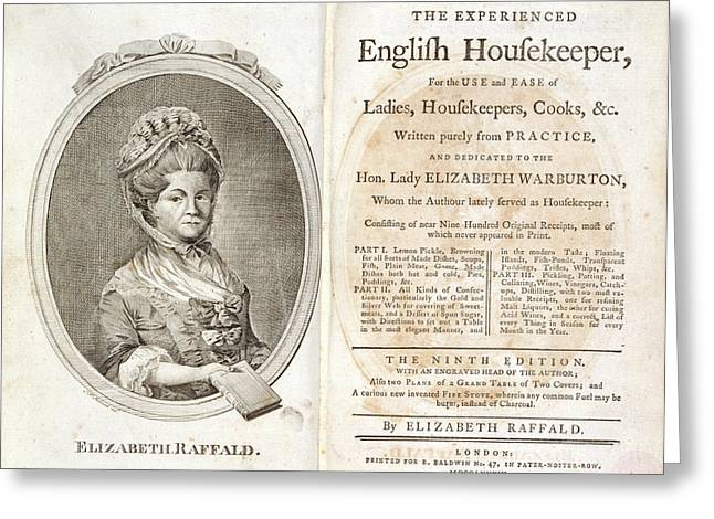 Elizabeth Raffald Greeting Card by British Library