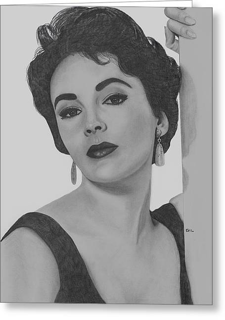 Liz Taylor Greeting Cards - Elizabeth Taylor Greeting Card by Gil Fong
