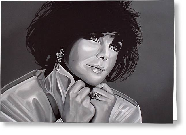 Ashes Greeting Cards - Elizabeth Taylor Greeting Card by Paul Meijering