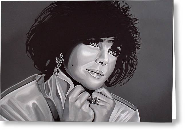 Michael Jackson Art Greeting Cards - Elizabeth Taylor Greeting Card by Paul Meijering