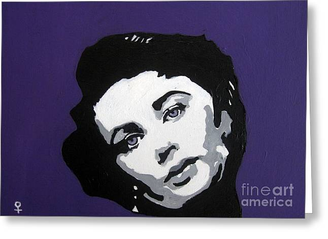 Black And White Images Mixed Media Greeting Cards - Elizabeth Taylor Greeting Card by Venus