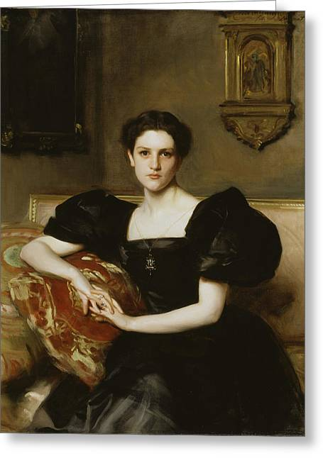 Elizabeth Winthrop Chanler - Mrs. John Jay Chapman Greeting Card by John Singer Sargent