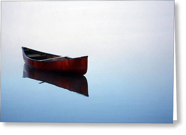 Canoe Greeting Cards - Elizabeths Canoe Greeting Card by Skip Willits