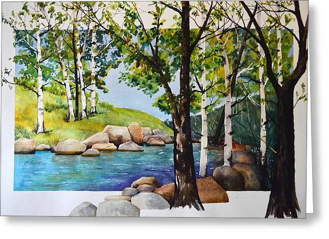 Terri Waters Paintings Greeting Cards - Elk River Morning Greeting Card by Terri Robertson