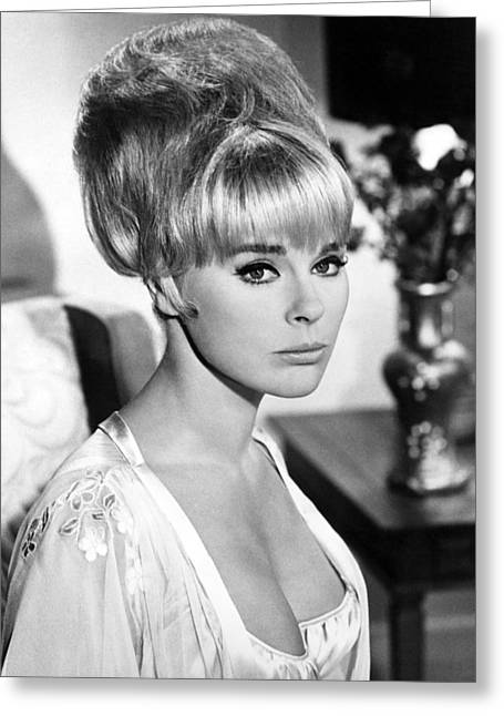 Get Greeting Cards - Elke Sommer in Boy, Did I Get a Wrong Number!  Greeting Card by Silver Screen