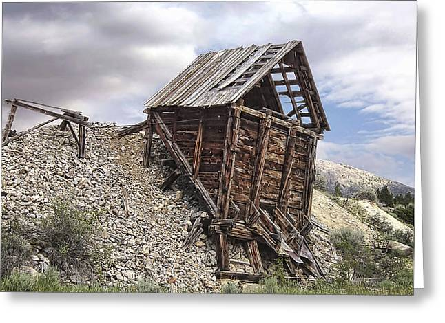Miners Ghost Greeting Cards - Elkhorn Ghost Town Mine Chute Terminus - Montana Greeting Card by Daniel Hagerman