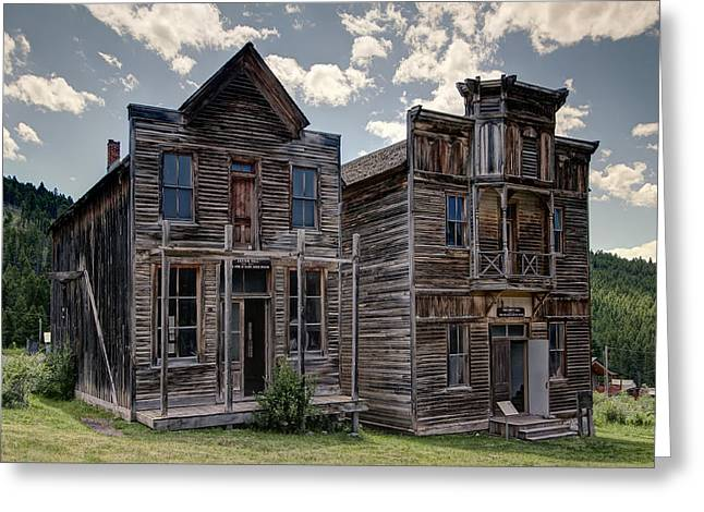 Elkhorn Ghost Town Public Halls - Montana Greeting Card by Daniel Hagerman