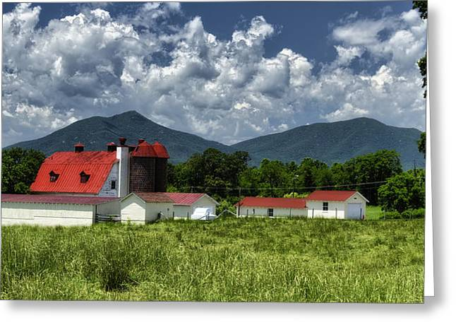 Red Roofed Barn Greeting Cards - Elks Home Barn Bedford Virginia Greeting Card by Steve Hurt