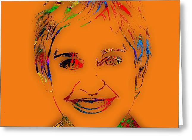 Ellen Degeneres Greeting Cards - Ellen Degeneres Collection Greeting Card by Marvin Blaine
