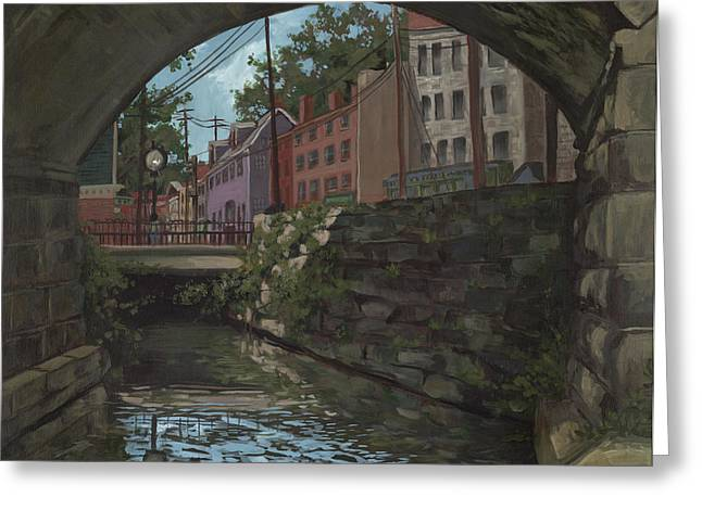 Edward Williams Greeting Cards - Ellicott City Bridge Greeting Card by Edward Williams