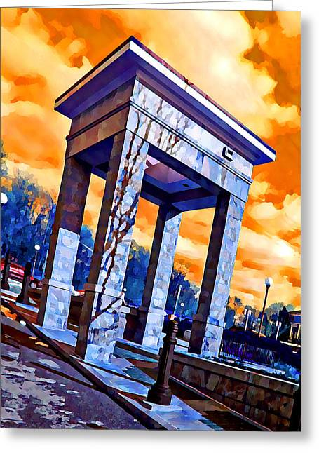 Ellicott Greeting Cards - Ellicott City Courthouse Path Greeting Card by Stephen Younts