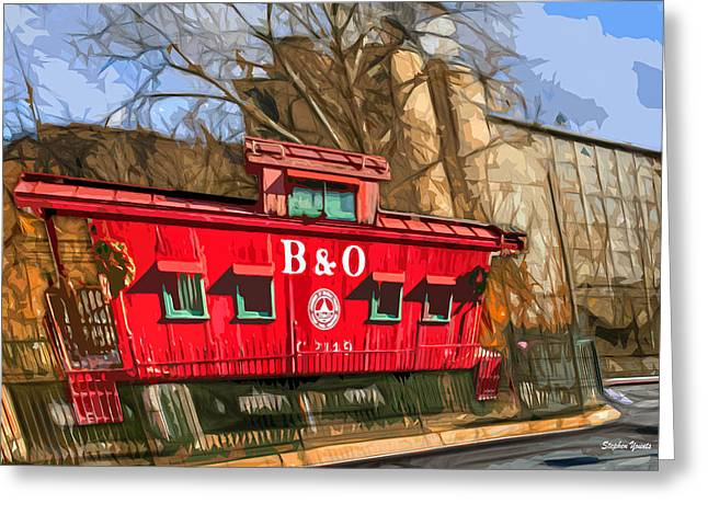 Catonsville Greeting Cards - Ellicott City Train and Factory Greeting Card by Stephen Younts