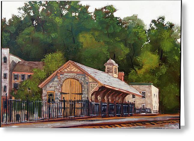 Edward Williams Greeting Cards - Ellicott Mills Station Greeting Card by Edward Williams
