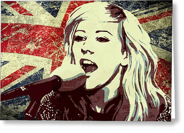 Fifty Shades Of Grey Greeting Cards - Ellie Goulding 3 Greeting Card by Irina Effa