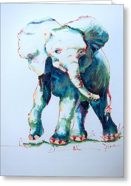 Diane Kraudelt Greeting Cards - Ellies Dance Greeting Card by Diane Kraudelt