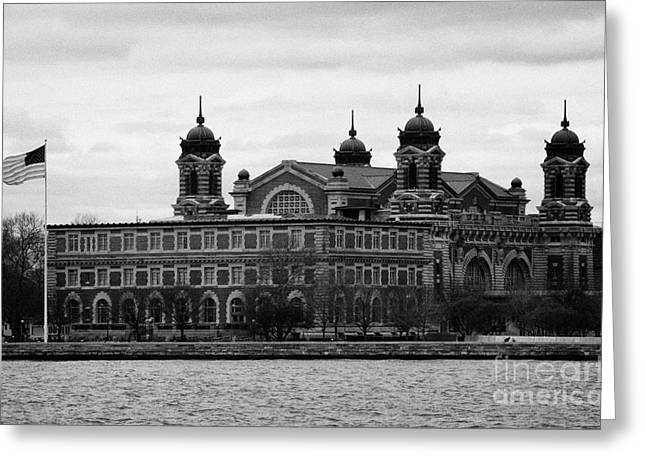 Manhatan Greeting Cards - Ellis Island New York City Greeting Card by Joe Fox