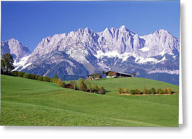 Height Greeting Cards - Ellmau Wilder Kaiser Tyrol Austria Greeting Card by Panoramic Images