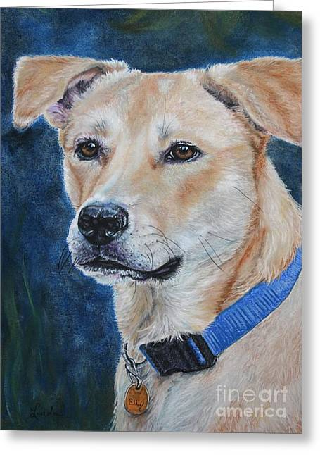 Labradors Pastels Greeting Cards - Elly Greeting Card by Linda Eversole