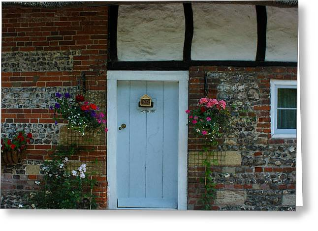 Terri Waters Greeting Cards - Elm Cottage Front Door Nether Wallop Greeting Card by Terri  Waters