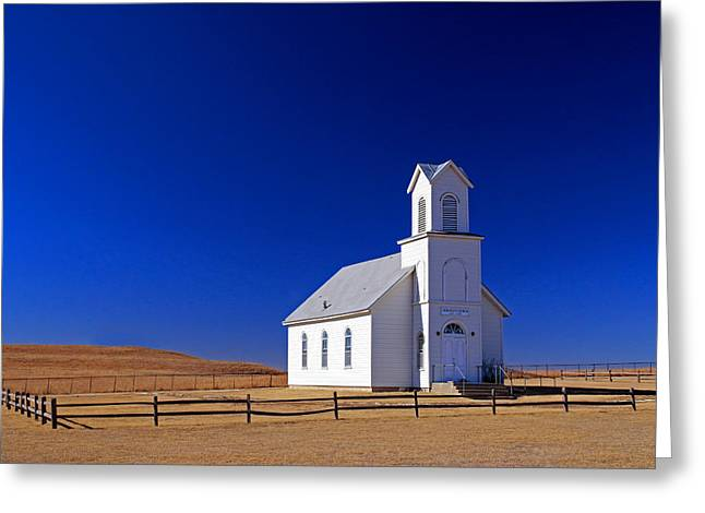 Sante Fe Trail Greeting Cards - Elmdale Church  Greeting Card by Christopher McKenzie
