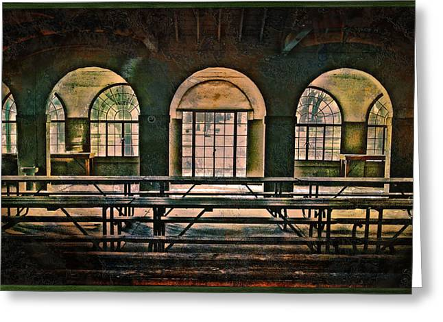 Interior Scene Greeting Cards - Elmwood Pavilion Greeting Card by John Anderson