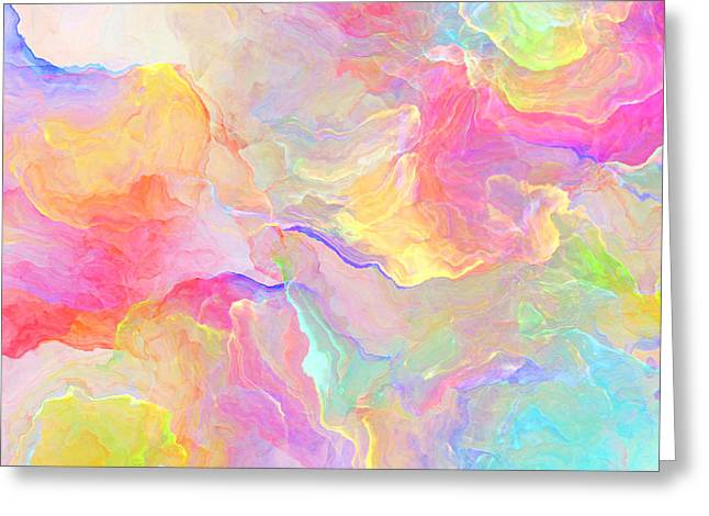 Abstract Digital Greeting Cards - Eloquence - Abstract Art Greeting Card by Jaison Cianelli