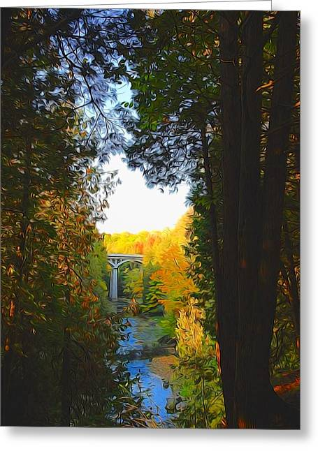 Elora Gorge Greeting Card by Bob Northway