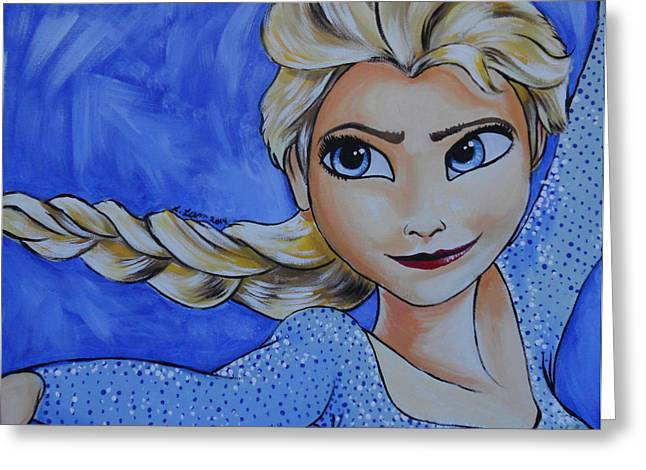 Bothers Greeting Cards - Elsa Greeting Card by Lisa Leeman