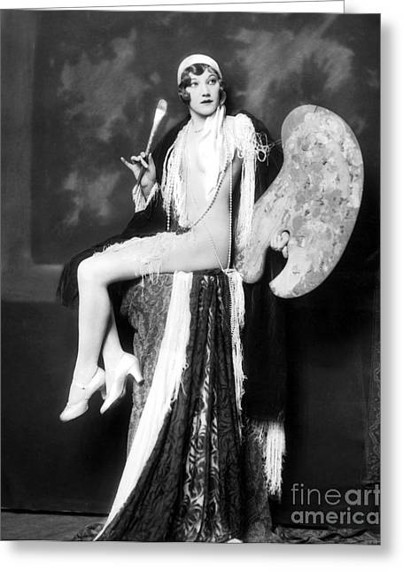 Showgirl Greeting Cards - Elsie Behrens Greeting Card by MMG Archives