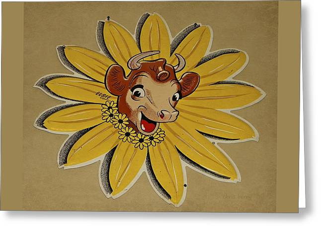 Elsie The Borden Cow  Greeting Card by Chris Berry