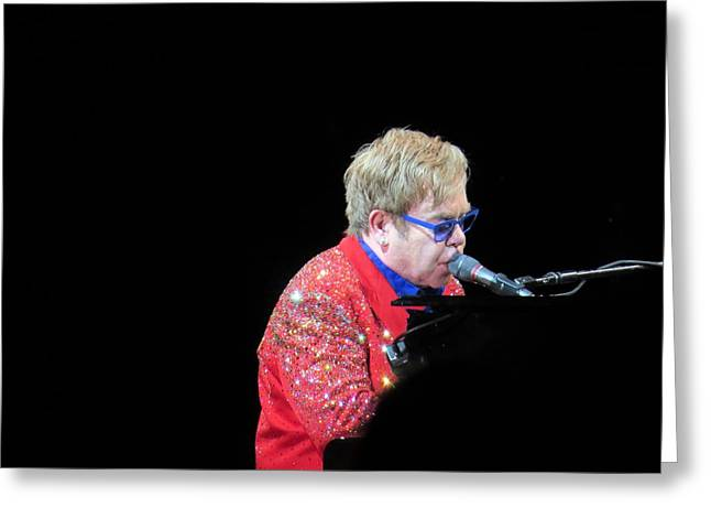 Elton Greeting Card by Aaron Martens