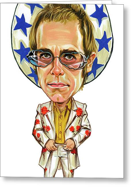 Pianist Photographs Greeting Cards - Elton John Greeting Card by Art