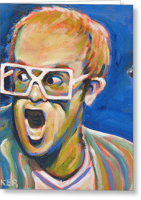 Elton John Greeting Card by Buffalo Bonker