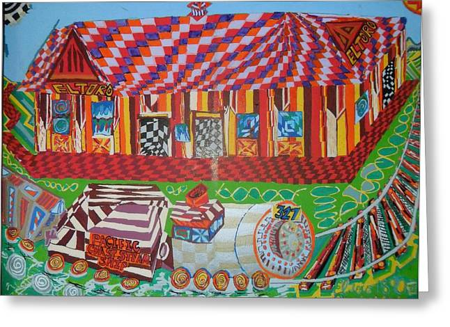 Award Winning Art Greeting Cards - El Toro Train Station 1860 Greeting Card by Howard Yosha