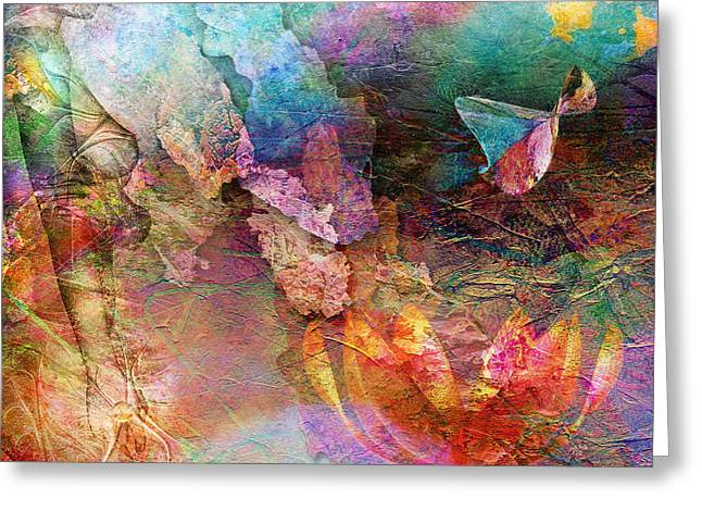 Fantasy Mixed Media Greeting Cards - Elusive Dreams Part Two Greeting Card by Photodream Art