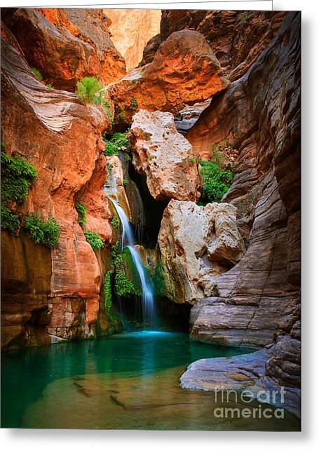 Elves Chasm Greeting Card by Inge Johnsson