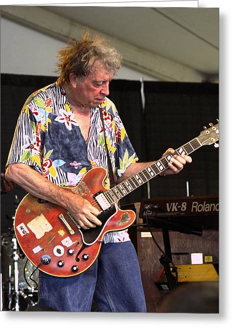 Player Greeting Cards - Elvin Bishop Greeting Card by Bill Gallagher