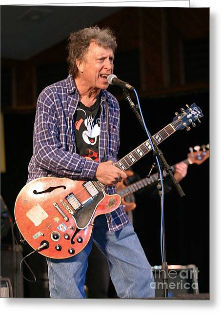 Elvin Greeting Cards - Elvin Bishop Greeting Card by Front Row  Photographs