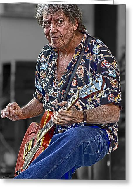 Elvin Greeting Cards - Elvin Bishop No.3 Greeting Card by Mark Myhaver