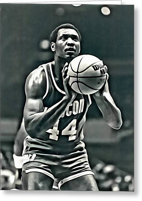 Slamdunk Greeting Cards - Elvin Hayes Greeting Card by Florian Rodarte