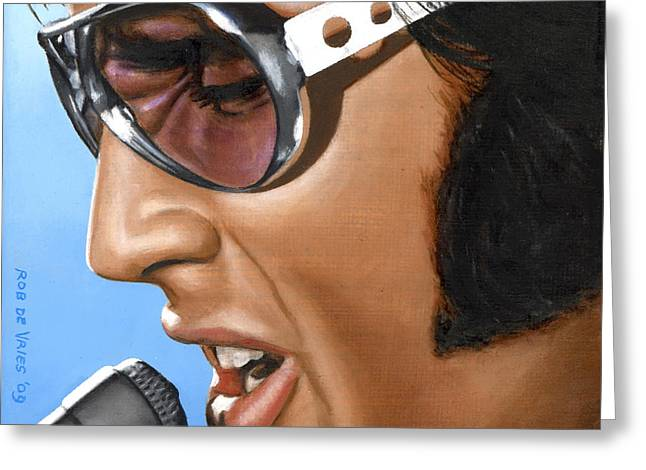 Famous Greeting Cards - Elvis 24 1970 Greeting Card by Rob De Vries