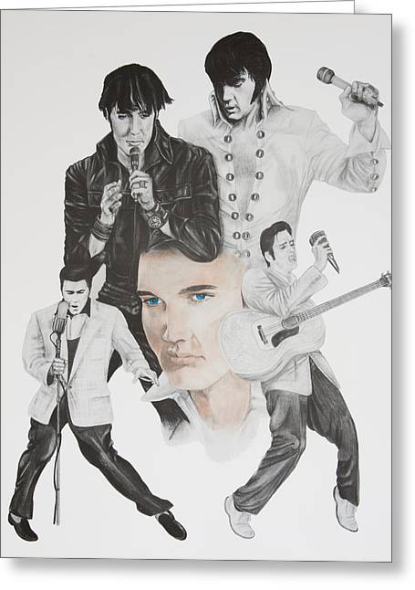Various Drawings Greeting Cards - Elvis a commemoration Greeting Card by Joe Lisowski